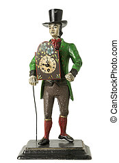 Old Clock in a Figure of a Man