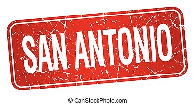 San Antonio red stamp isolated on white background