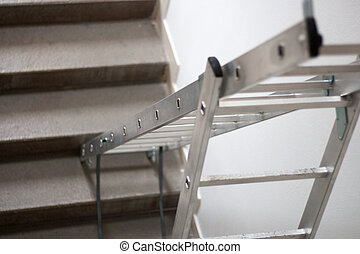 stepladder - A ladder is a vertical or inclined set of rungs...