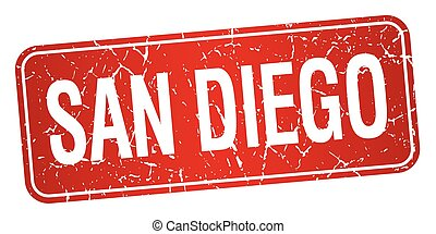 San Diego red stamp isolated on white background