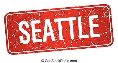 Seattle red stamp isolated on white background