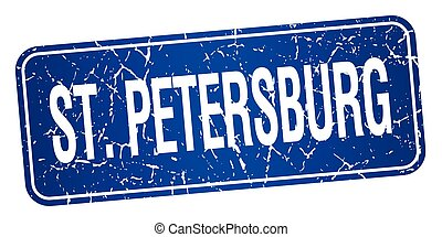 StPetersburg blue stamp isolated on white background