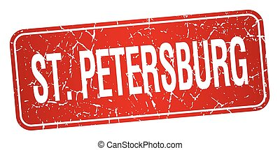 St. Petersburg red stamp isolated on white background