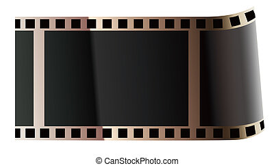 film roll - drawing of black film roll in a white background