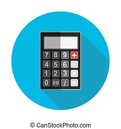 Flat Design Concept Calculator Vector Illustration With Long...