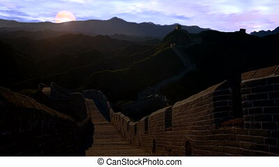 the Great Wall - Sunrise of the Great Wall