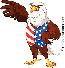 American eagle - Illustration of proud American eagle...