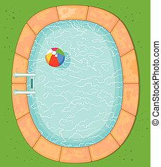 Top View Pool - Illustration of top view pool