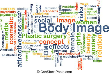 Body image background concept - Background concept wordcloud...