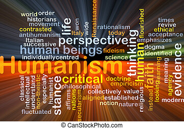 Humanism background concept glowing - Background concept...