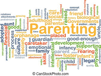 Parenting background concept - Background concept wordcloud...