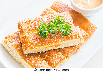 Bread stick with sauce - Bread stick with sweet sauce