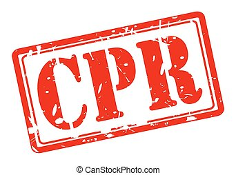 CPR red stamp text on white