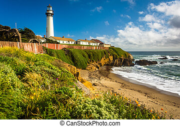 Piegon Point Lighthouse, in Pescadero, California