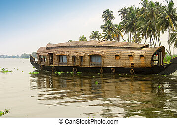 Houseboat - A houseboat in the backwaters of Kerala, India