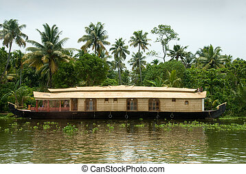 Kerala Houseboat - Houseboat on backwaters in Kerala, India