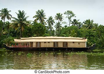 Kerala Houseboat - Houseboat on backwaters in Kerala, India