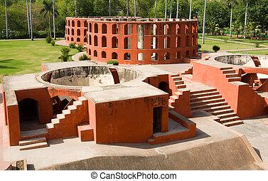 Jantar Mantar observatory - The Jantar Mantar observatory in...