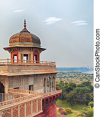 Agra Red fort, India, Uttar Pradesh - Agra Red Fort view on...