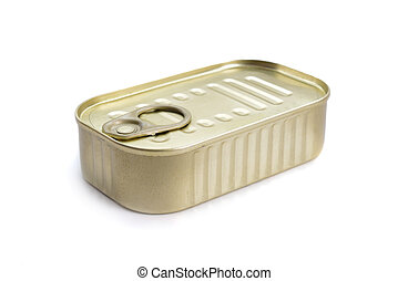 The filled can Isolated