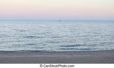 Sailboat on sea in turkey