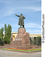Rusia, Volgograd, Un, monumento, Lenin