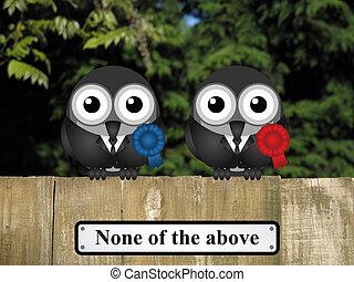 Bird Politicians - Comical bird politicians with none of the...