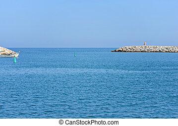 藍色, 海景, 天空, 海
