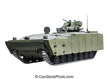 latest Russian infantry fighting vehicle is isolated on a...
