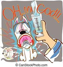 Dog Fear syringe Doctor