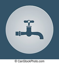 water tap on a white background with shadow