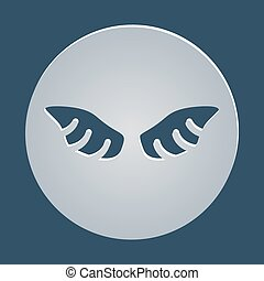 Vector graphic wings element
