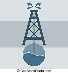 Oil rig vector icon