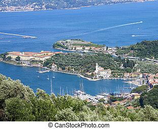 le grazie - aerial view of le grazie a nice village near la...