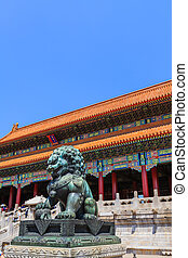 The Gate of Supreme Harmony, Forbidden City - Beijing, China...