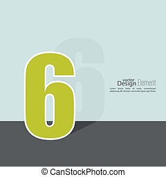The number 6. six. abstract background. Outline. Logo or...