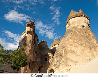 Rock formations in Goreme National Park . Cappadocia.Turkey