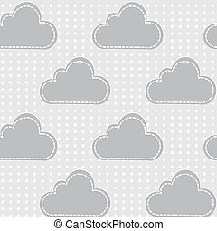 Clouds with snow