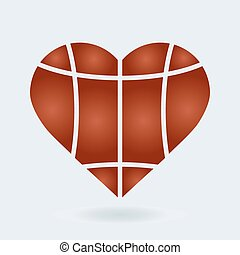 Heart with Basketball