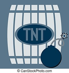 Barrel of gunpowder, TNT Bomb