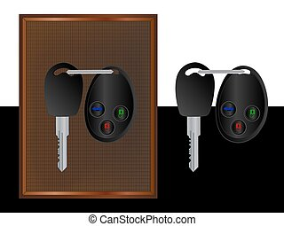 Car key. The background color can be changed. You can use...
