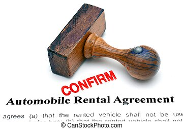 Automobile rental form
