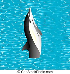 Killer Whale. Killer Whale jumping out from water (Orcinus...