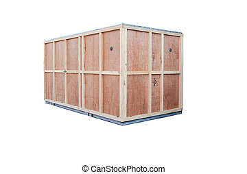 protection wood box for container goods import export...