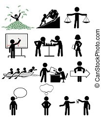 People in business - Vector illustration of a people in...
