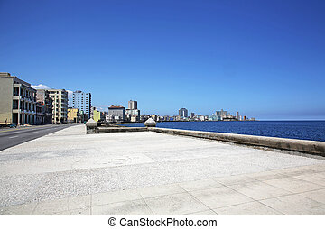 Malecon Havana Cuba - the Malecon, Avenida de Maceo, is a...