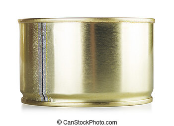 Closed Tincan - closed tincan, isolated on white, front view
