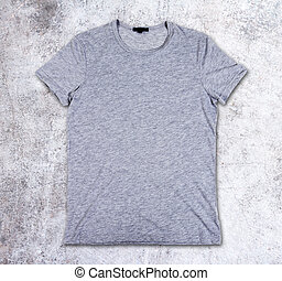 blank t-shirt on the concrete background