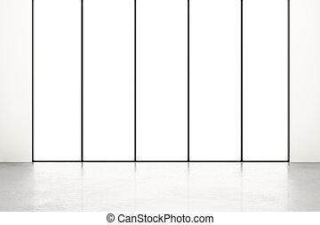 empty room with white window