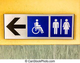 Toilette sign.